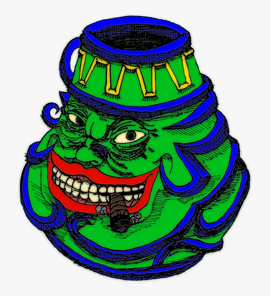 Pot Of Greed Trollface, Transparent Clipart