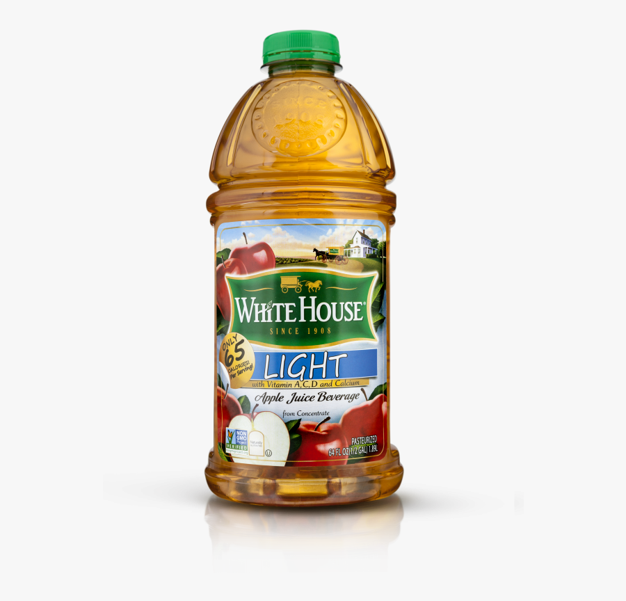 White House Apple Juice 64 Oz - Plastic Bottle, Transparent Clipart