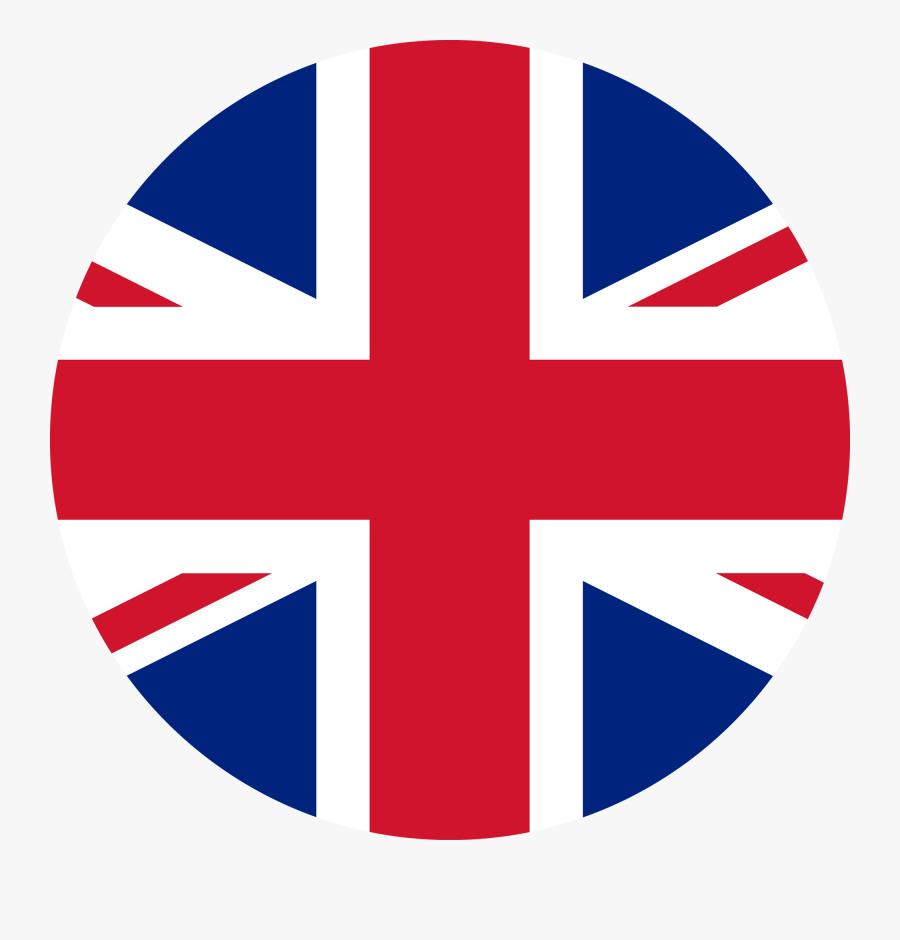 Union Jack Flag Circle, Transparent Clipart